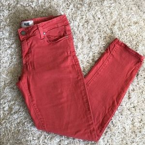 Dusty Red PAIGE Jeggings
